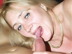 XXX videos of a grey haired mature named Eve spreading her stockinged legs for a cock